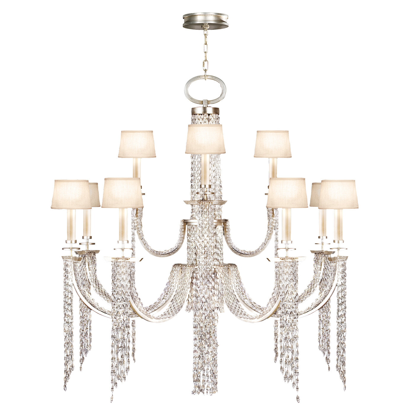 Fine Art Lamps Cascades 16 Light Shaded Classic Traditional Chandelier Perigold