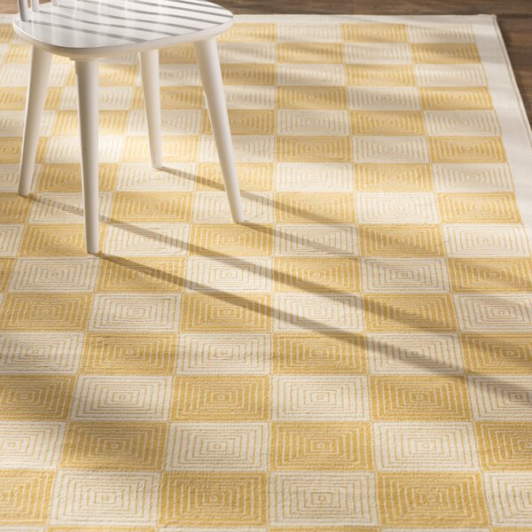Charlotte Gold/Ivory Indoor/Outdoor Area Rug by Zipcode Design