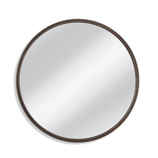 Darby Home Co Round Bronze Premium Resin Wall Mirror