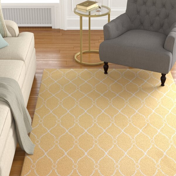Schaefferstown Hand-Woven Gold Area Rug by Darby Home Co