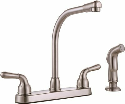 Double Handle Kitchen Faucet with Side Spray by Premier Faucet