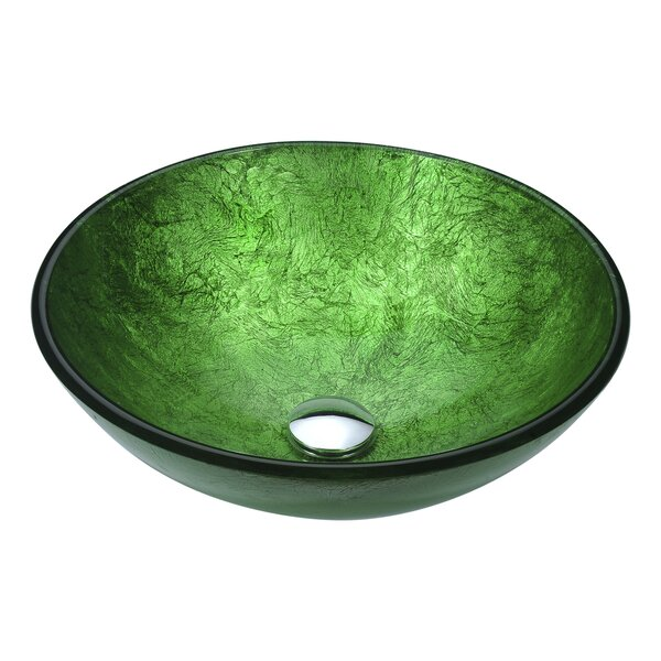 Posh Glass Circular Vessel Bathroom Sink by ANZZI