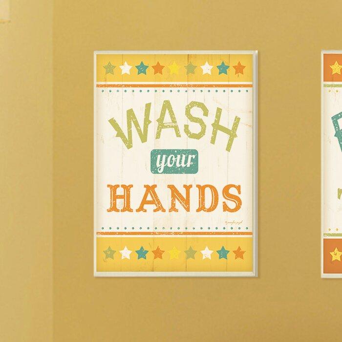 Wash Your Hands Bathroom Plaque - Best Hand 2017
