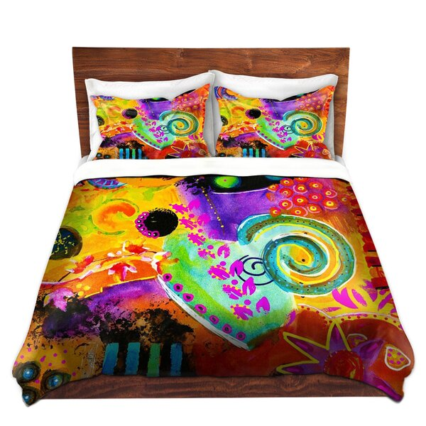 Seng China Carnella Crazy Abstract I Microfiber Duvet Covers by Ebern Designs