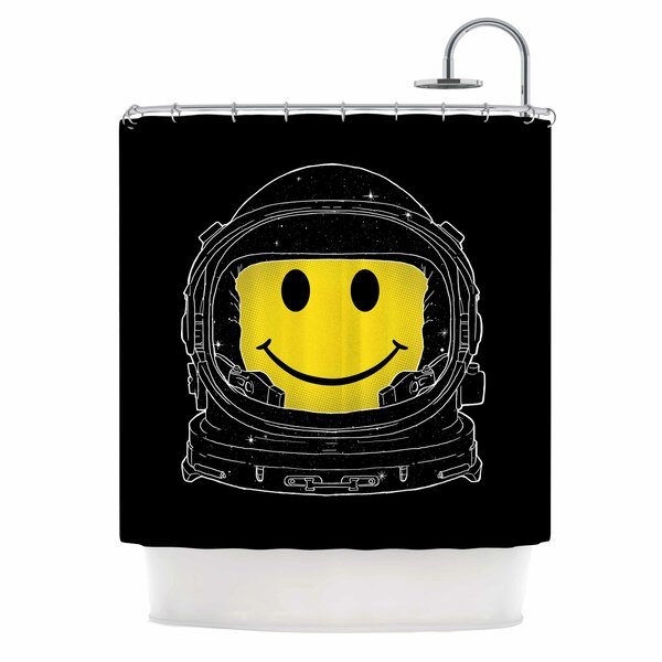 Digital Carbine Happiness Shower Curtain by East Urban Home