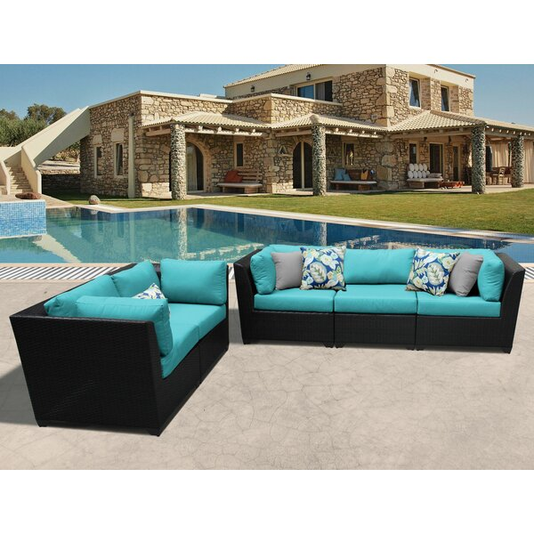 Tegan 5 Piece Sofa Seating Group With Cushions By Sol 72 Outdoor by Sol 72 Outdoor 2020 Sale