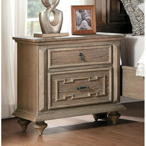 Lando Wooden 2 Drawer Nightstand By One Allium Way