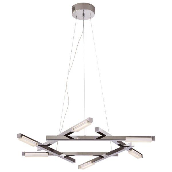 Alverson 1-Light LED Unique / Statement Geometric Chandelier By Orren Ellis