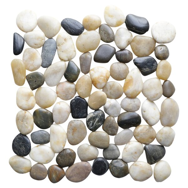 Interlocking Random Sized Natural Stone Mosaic Tile in Multicolor by Islander Flooring