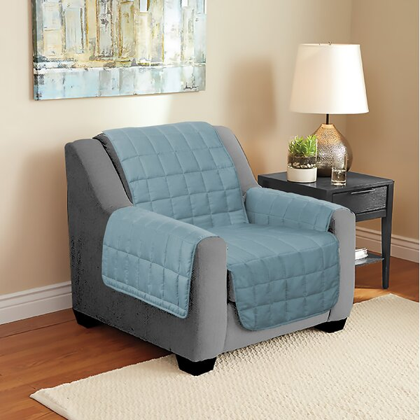 Suede Armchair Slipcover by Winston Porter