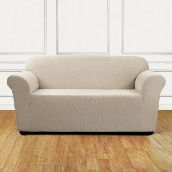 Review Ultimate Stretch Chenille Box Cushion Loveseat Slipcover