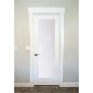 Merveilleux 1 Lite Satin Etch Solid Manufactured Wood Glass MDF Prehung Interior Door