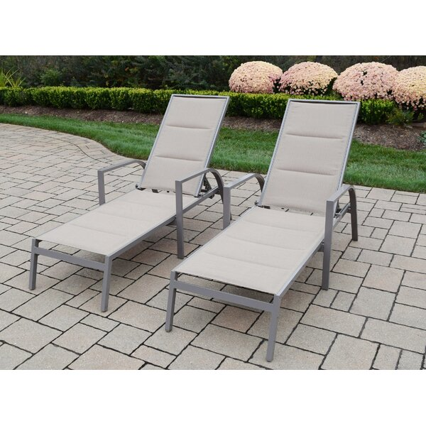 Padded Sling Chaise Lounge (Set of 2) by Oakland Living