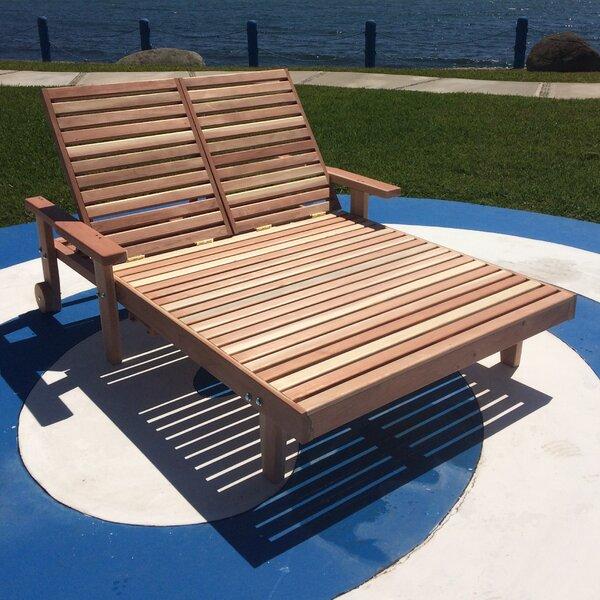 Varda Wheel Double Chaise Lounge with Arms by Orren Ellis Orren Ellis