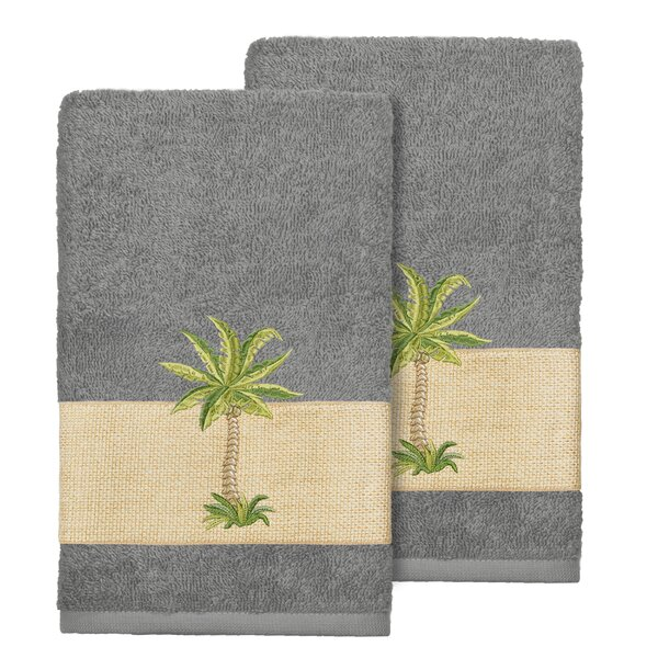 Mcleod Embellished Turkish Cotton Hand Towel (Set of 2) by Bay Isle Home