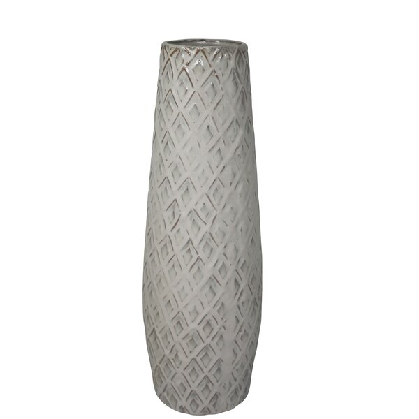 Carothers Ceramic Weave Table Vase by Union Rustic