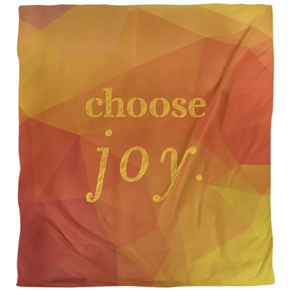 Choose Joy Quote Single Duvet Cover