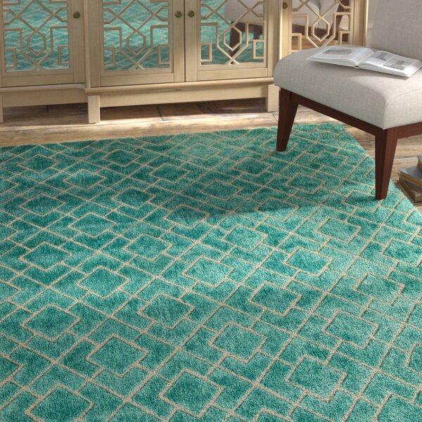 Karolinka Hand-Tufted Royal Turquoise Area Rug by Bungalow Rose