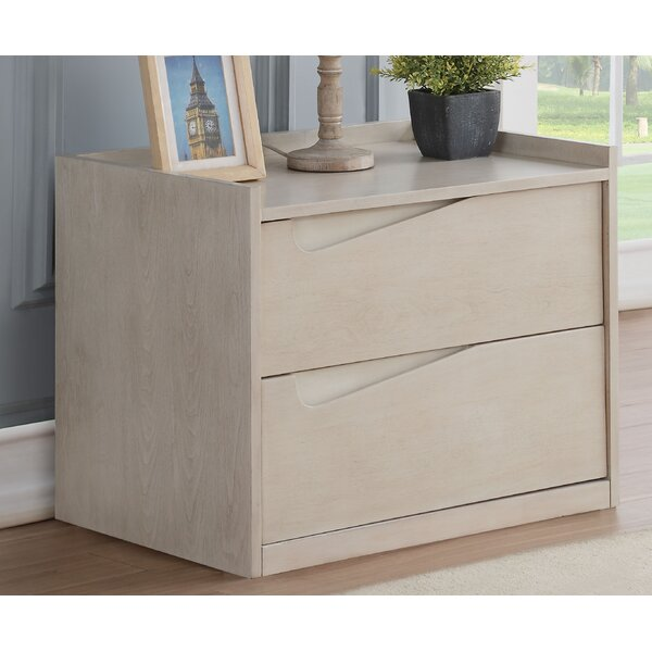 Taurean 2 Drawer Nightstand by Latitude Run
