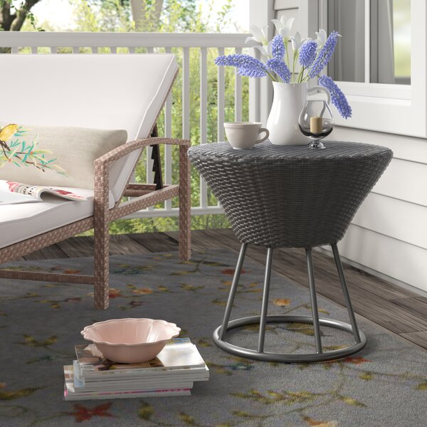 Sarthe Wicker/Rattan Side Table by Lark Manor