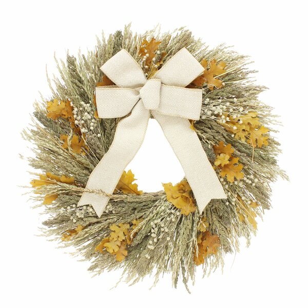 Maple and Flax 22 Wreath by August Grove