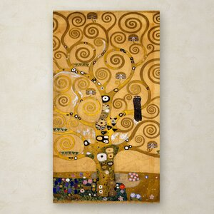 Tree of Life Soclet Frieze 1905 by Gustav Klimt Painting Print on Wrapped Canvas by Trademark Fine Art