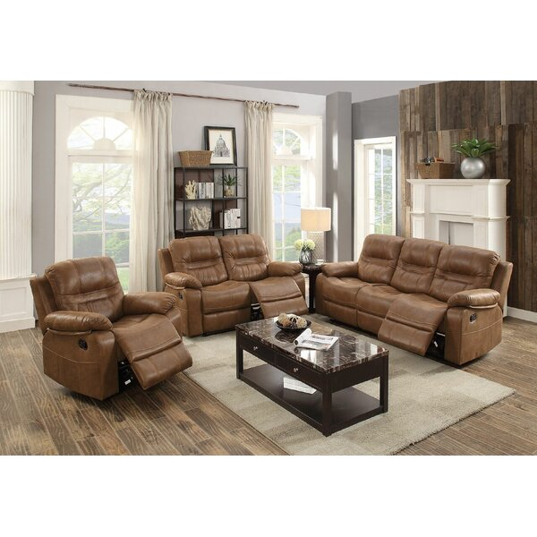 Summerall Reclining Motion 3 Piece Living Room Set by Red Barrel Studio