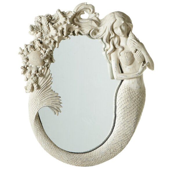 Mermaid Wall Mirror by Beachcrest Home