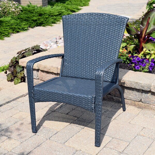 Truesdell Wicker Adirondack Chair by Breakwater Bay Breakwater Bay