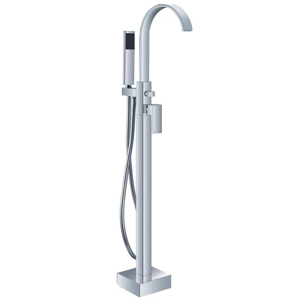HelixBath Modern Single Handle Floor Mount Freestanding Tub Filler by Kardiel
