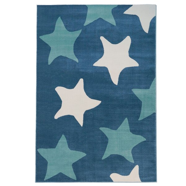 Elvis Star Blue Area Rug by Harriet Bee