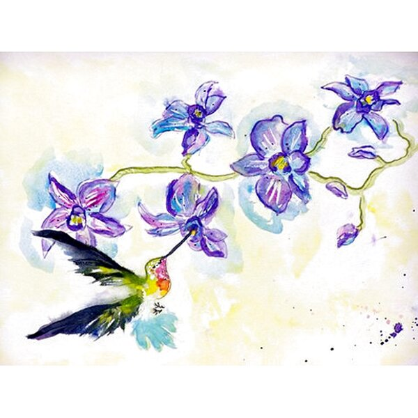 Simonson Hummingbird and Clematis Placemat (Set of 4) by Winston Porter