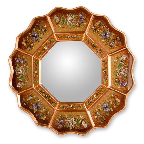 Ginger Fiesta Reverse Accent Mirror by Novica