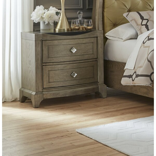 Ragnar 2 Drawer Nightstand by House of Hampton