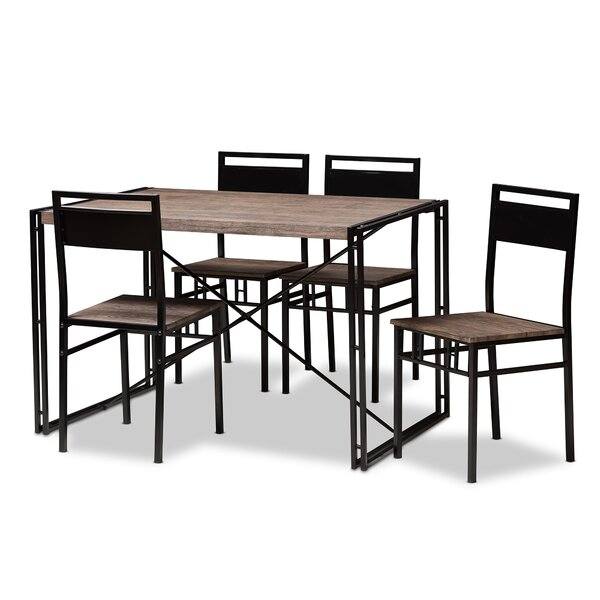 Mizell 5 Piece Dining Set By Williston Forge 2019 Coupon