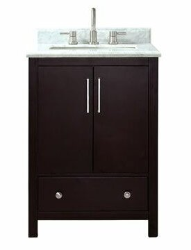 Pergamon Marble Top 25 Single Bathroom Vanity Set by Brayden Studio