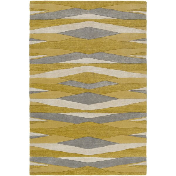Melitta Hand-Tufted Wheat/Mustard Area Rug by Ivy Bronx
