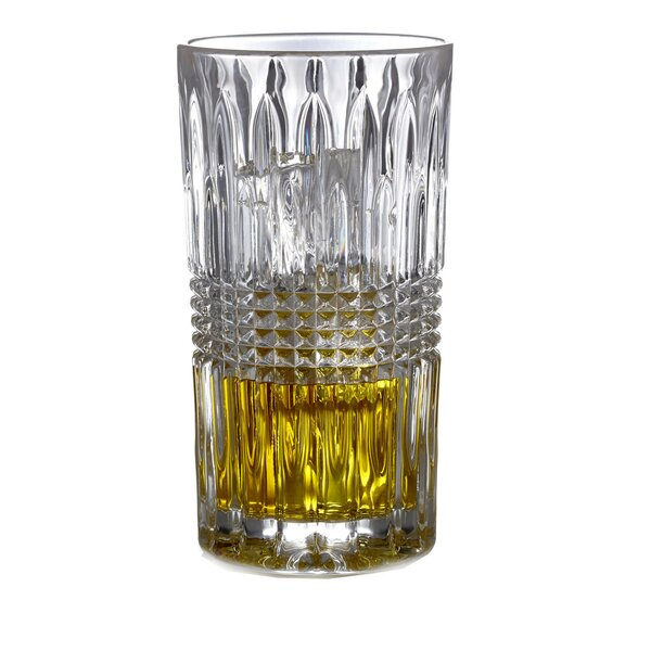 Danbury 11 oz. Crystal Highball Glass (Set of 4) by Fitz and Floyd