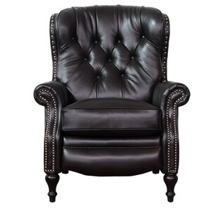 Lavoie Leather Recliner by Darby Home Co
