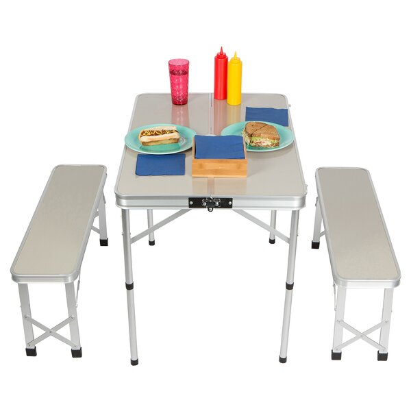 Bramlett 3 Piece Picnic Table Set by Freeport Park