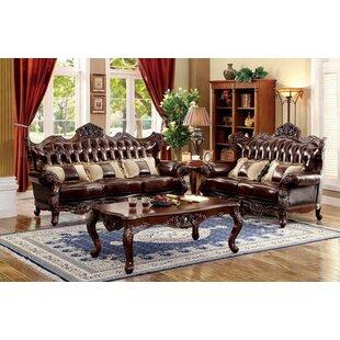 Ahren 2 Piece Genuine Leather Living Room Set by Astoria Grand