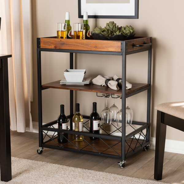 Tallman Mobile Metal Bar Cart by Williston Forge