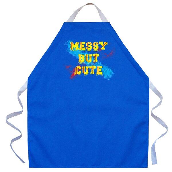 Messy But Cute Apron in Royal by Attitude Aprons by L.A. Imprints