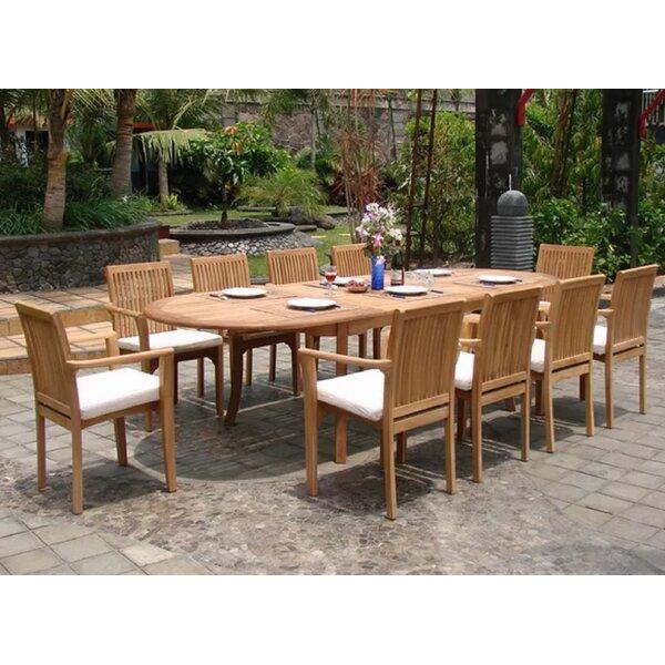 Elmirasol Luxurious 11 Piece Teak Dining Set by Rosecliff Heights