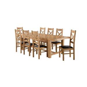 Essgruppe Canterbury mit ausziehbarem Tisch und 8 Stühlen von Brick & Barrow