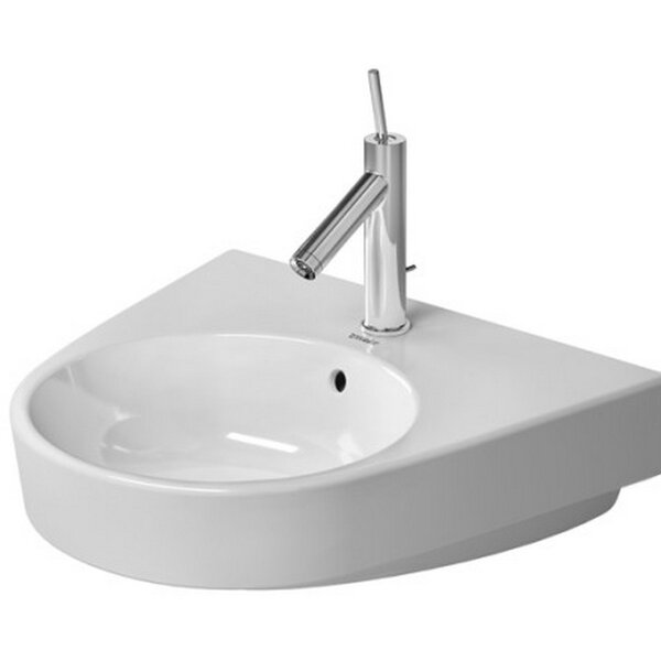 Starck Ceramic 22 Wall Mount Bathroom Sink with Overflow by Duravit