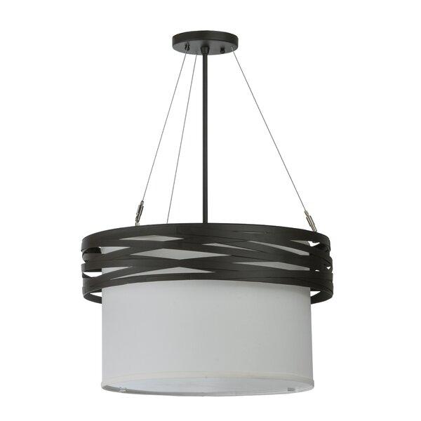 Cilindro Complex 2-Light Drum Chandelier by Meyda Tiffany Meyda Tiffany