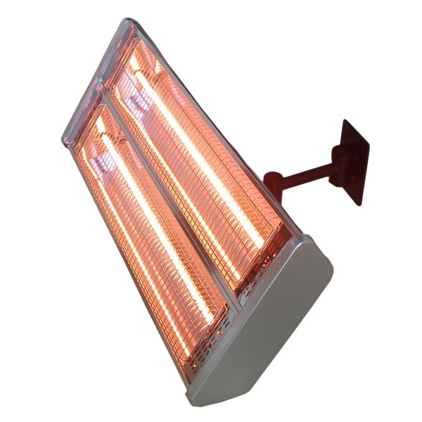 Double 1500 Watt Electric Mounted Patio Heater by AZ Patio Heaters