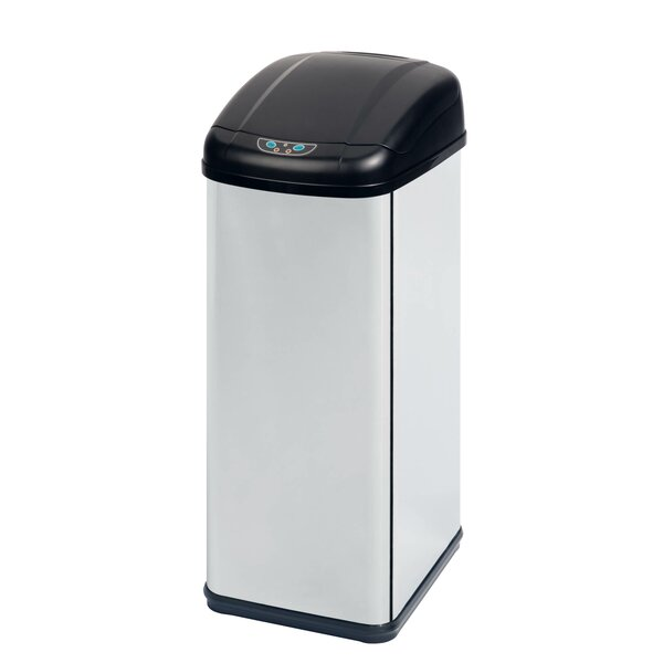 Stainless Steel 13.7 Gallon Motion Sensor Trash Can by Honey Can Do