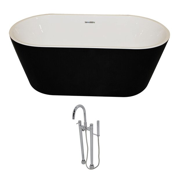 Dualita 64.75 x 31.4 Freestanding Soaking Bathtub by ANZZI